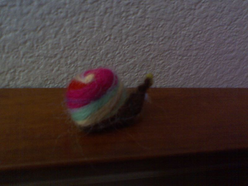 Back of finished pin snail