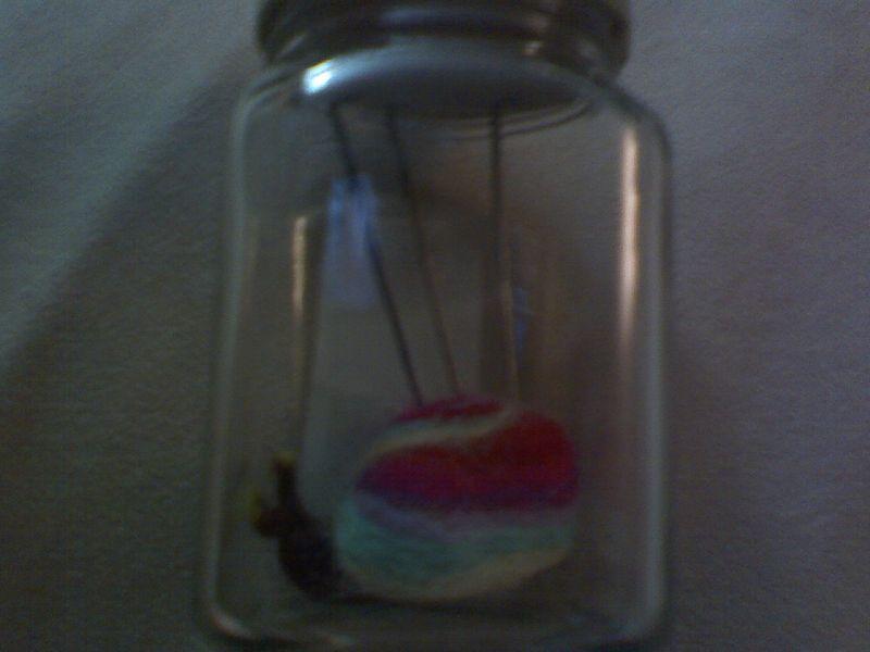 Snail in a jar
